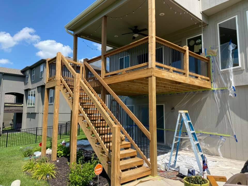 Deck Staining Job